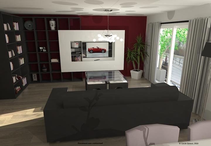Modèle Decoration Salon Simulation