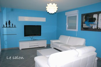 Decoration salon turquoise for Deco salon turquoise gris