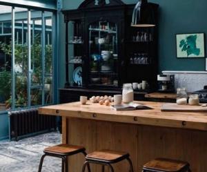 Cuisine bleu vert for Decoration murale kaysersberg