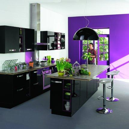 cuisine noir alinea. Black Bedroom Furniture Sets. Home Design Ideas