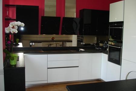 Cuisine noir et blanc - Deco cuisine noir et blanc ...