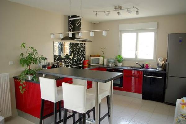cuisine rouge et blanc best deco cuisine gris blanc rouge paris