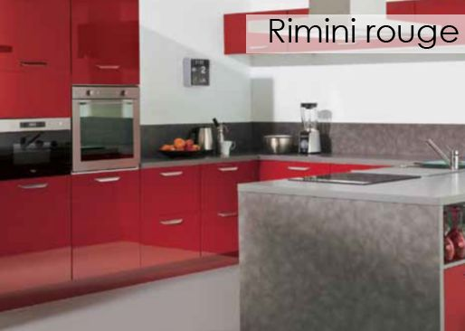 cuisine rimini rouge alinea. Black Bedroom Furniture Sets. Home Design Ideas