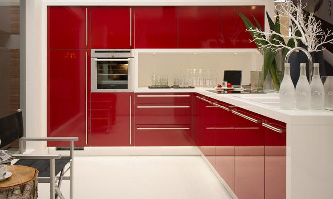 Cuisine Rouge Brillant