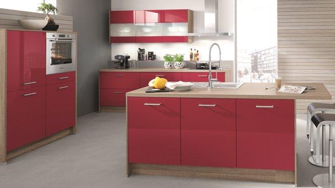Cuisine rouge but - Deco de cuisine rouge ...