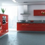cuisine rouge orange jaune