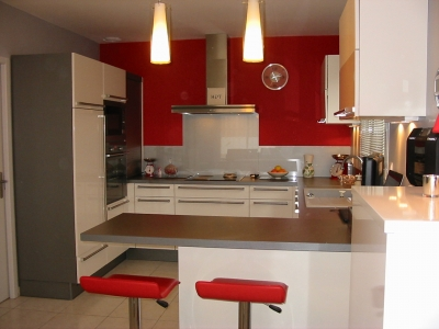 Beautiful Cuisine Rouge Peinture Mur Ideas - Design Trends 2017