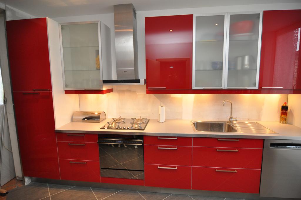 photo decoration cuisine rouge plan de travail blanc 9 Résultat Supérieur 60 Beau Cuisine équipée Avec Plan De Travail Galerie 2018 Kjs7