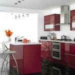 cuisine rouge sol noir