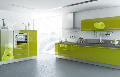 Deco Cuisine Gris Et Vert Anis Idée De Modèle De Cuisine
