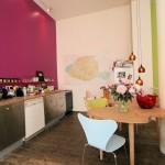 cuisine vert anis et prune