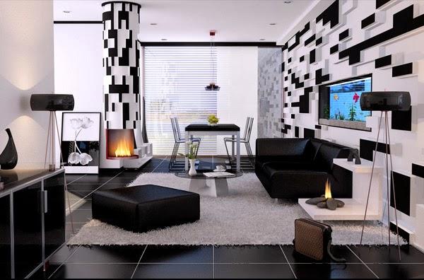 déco maison noir et blanc