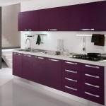 deco cuisine noir et violet
