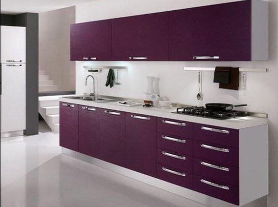 deco cuisine noir et violet. Black Bedroom Furniture Sets. Home Design Ideas