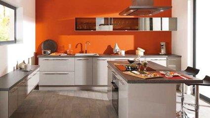 deco cuisine orange et marron