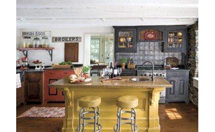 deco cuisine style bistrot. Black Bedroom Furniture Sets. Home Design Ideas