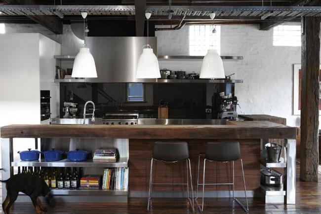 Deco cuisine style industriel for Organisation cuisine