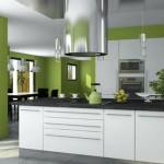 deco cuisine vert et gris