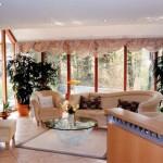 deco salon avec baie vitree