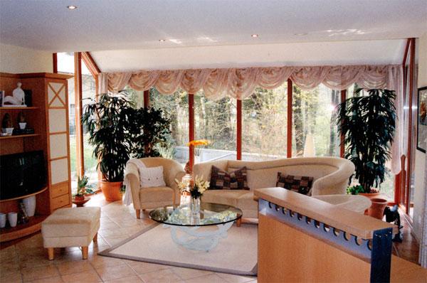 Deco salon avec baie vitree for Decoration de noel salon