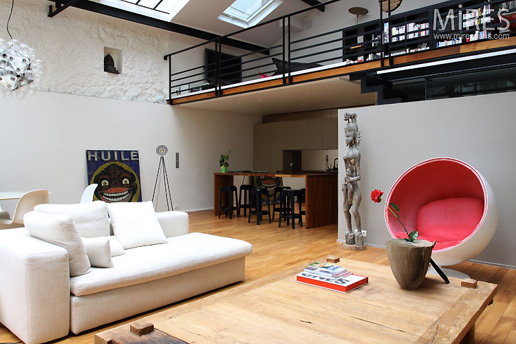 deco salon avec baie vitree. Black Bedroom Furniture Sets. Home Design Ideas