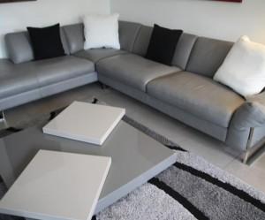 deco salon blanc et gris