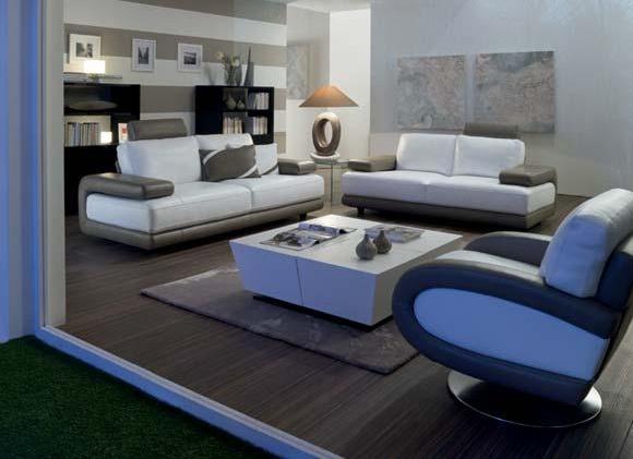 Deco salon blanc et mauve avec des id es for Idee deco salon noir gris blanc