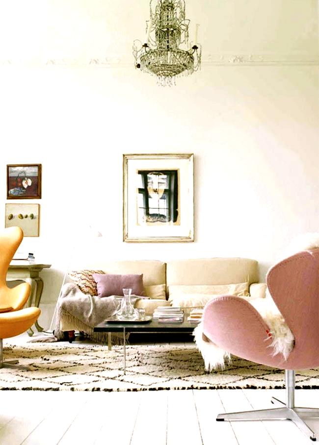 Deco salon couleur pastel for Deco photo salon