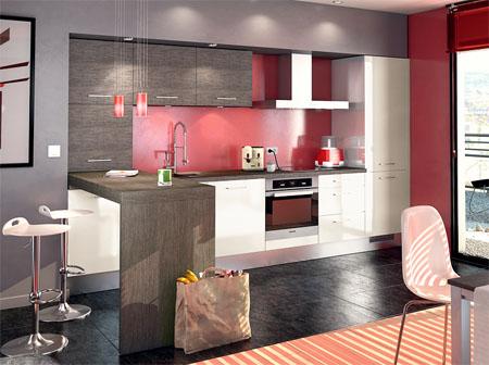 Deco salon et cuisine ouverte for Jolie cuisine ouverte