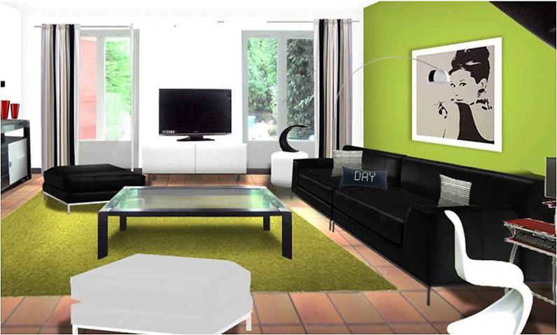 deco salon idee couleur. Black Bedroom Furniture Sets. Home Design Ideas