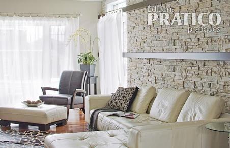 deco salon mur en pierre. Black Bedroom Furniture Sets. Home Design Ideas