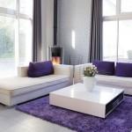 deco salon noir blanc violet