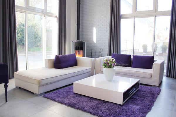 deco salon noir blanc violet pictures to pin on pinterest - Salon Noir Blanc Violet