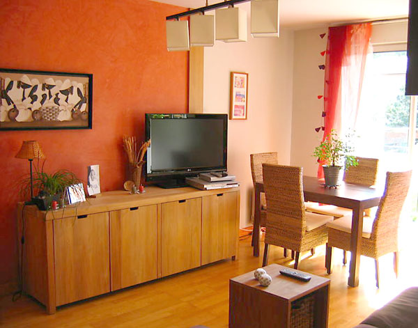 deco salon orange blanc. Black Bedroom Furniture Sets. Home Design Ideas