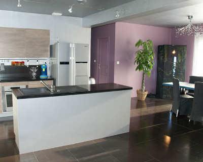 Deco salon ouvert sur cuisine - Cuisine et salon ouvert ...
