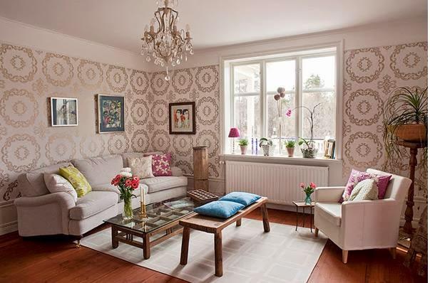 Deco salon papier peint - Deco papier peint salon ...