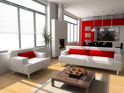 deco salon rouge et blanc. Black Bedroom Furniture Sets. Home Design Ideas