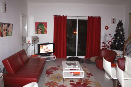 Decoration Salon Moderne Gris Et Rouge | Decoration For Home
