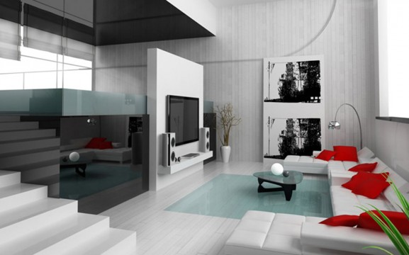 Best Salon Rouge Et Blanc Deco Ideas  Amazing House Design