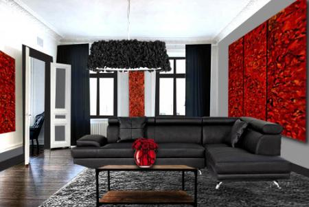 deco salon rouge et noir. Black Bedroom Furniture Sets. Home Design Ideas