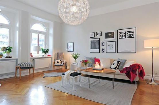 Deco salon scandinave