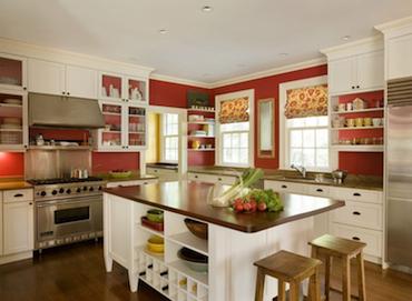 Decoration cuisine rouge et beige - Cuisine beige et rouge ...