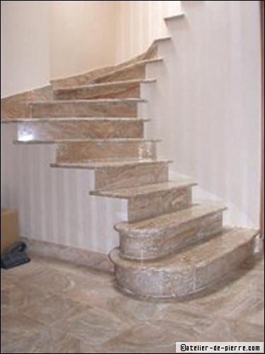 Decoration haut escalier for Modele escalier interieur