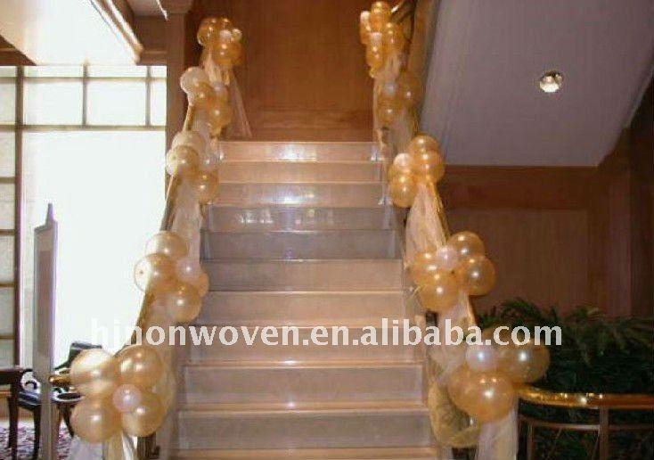 Photo decoration rampe d\'escalier pour mariage
