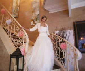 decoration rampe d'escalier pour mariage