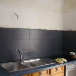 cuisine carrelage noir