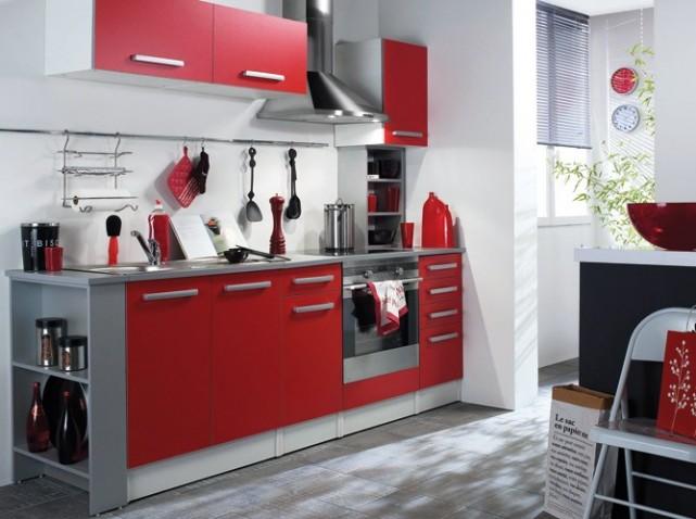 Zellige Marocain Salle De Bain : modèle cuisine nina rouge pas cher