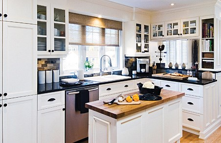 cuisine noir blanc bois