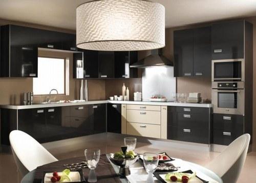 Cuisine noir deco - Idee de deco cuisine ...