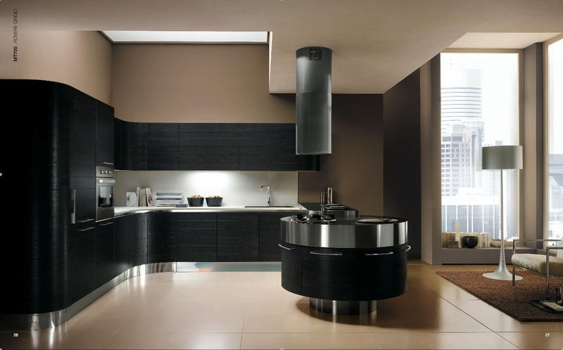 cuisine noir et inox. Black Bedroom Furniture Sets. Home Design Ideas